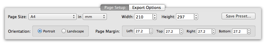 Page Setup options for CHM to PDF export