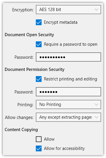 PDFtor - Encrypt PDF document using security options