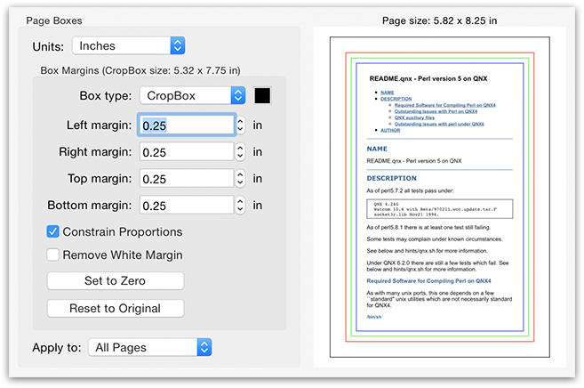 PDFGenius - Set page boxes (CropBox, ArtBox, TrimBox & BleedBox) margins