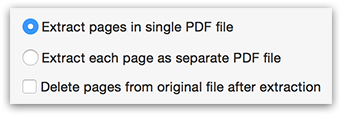 PDFGenius - PDF page extraction options