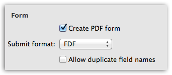Word to PDF - Create form