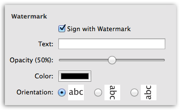 PDFtor-W - Sign your document with watermark