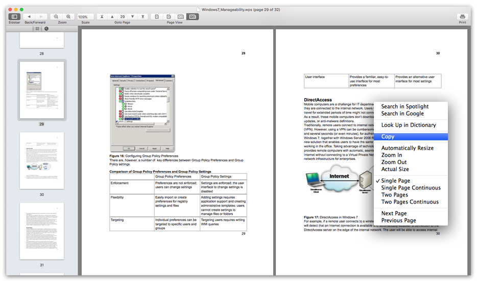 Works Reader - document viewer.