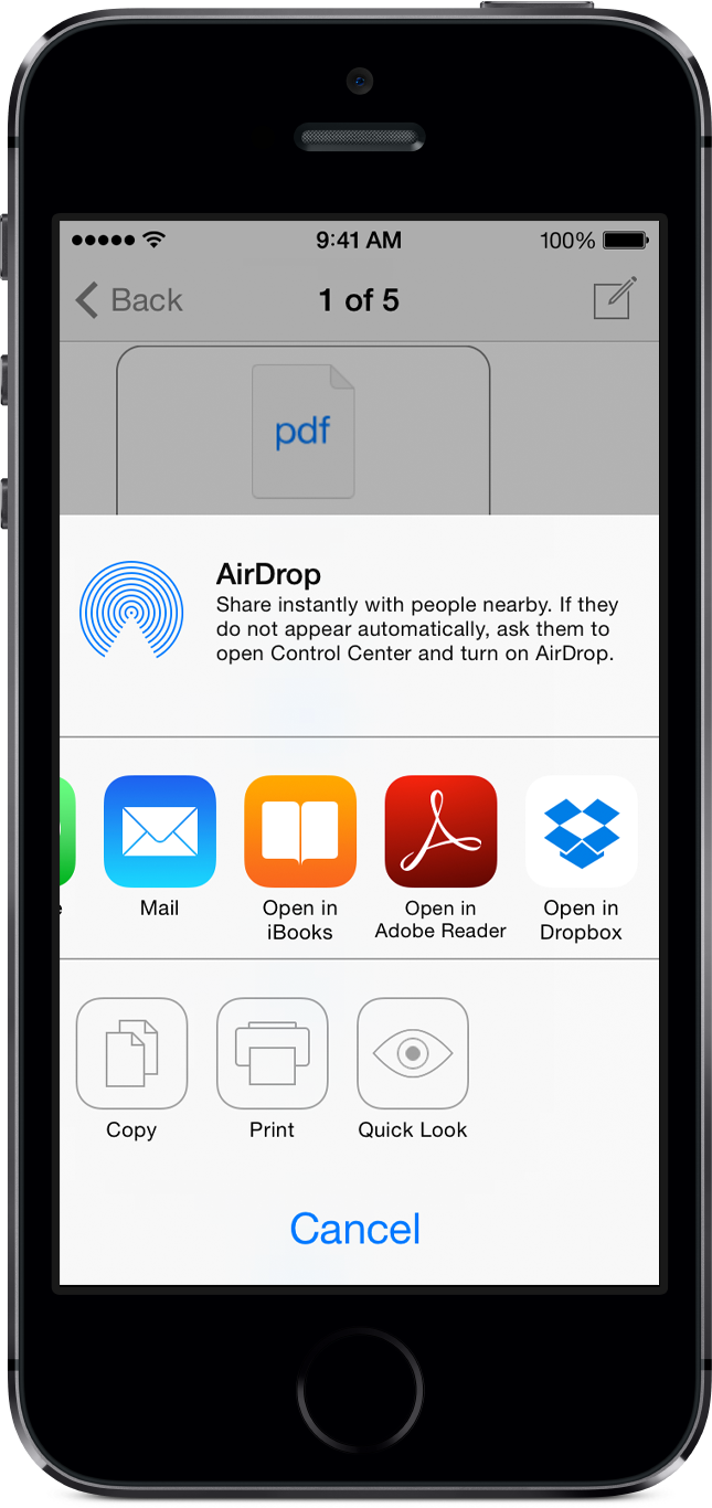 Winmail Reader - share extracted attachments for iPhone