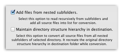 PDF to JPG Pro - Add PDF files recursively and maintain directory hierarchy while conversion